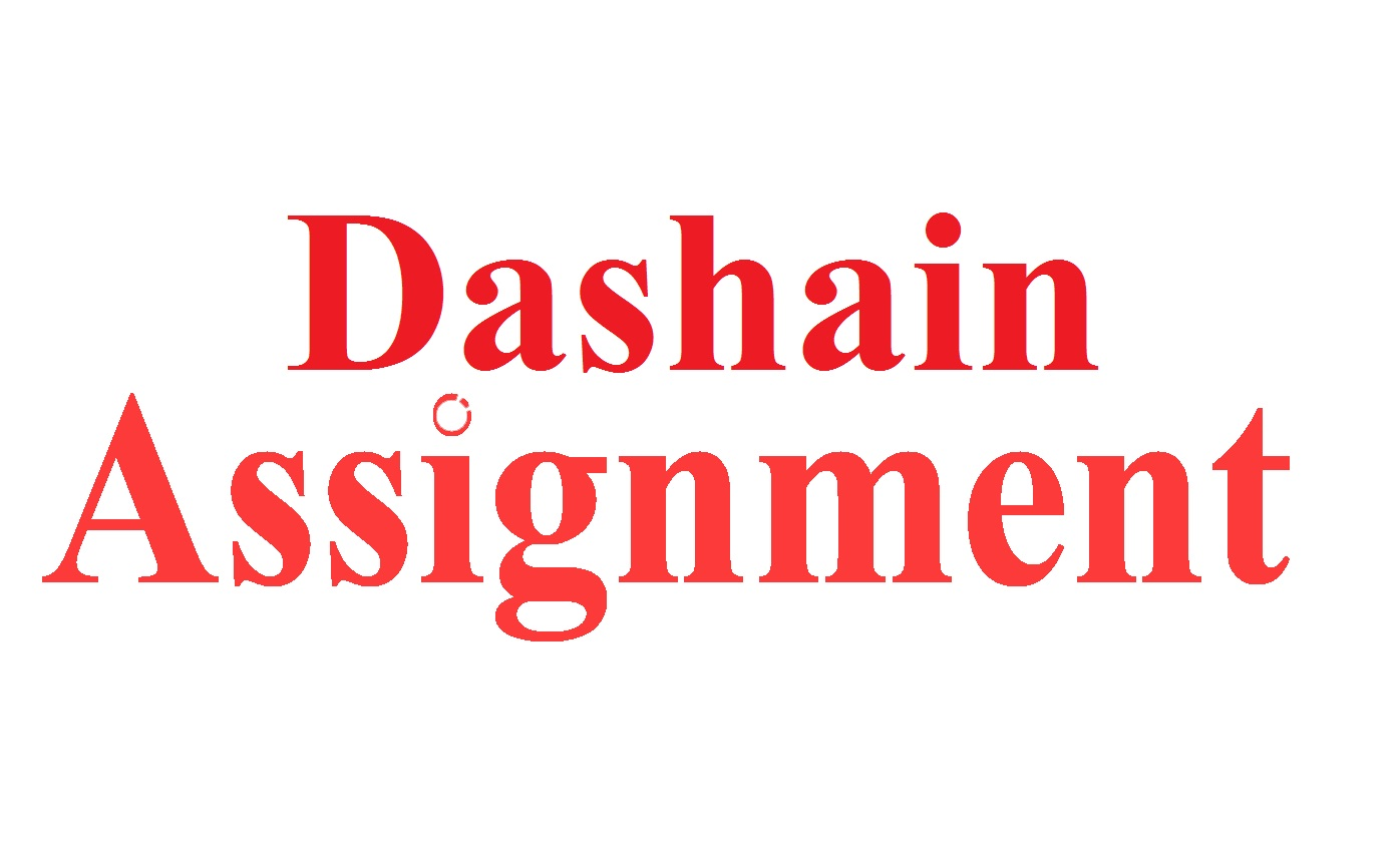 Dashain Assignment 2075
